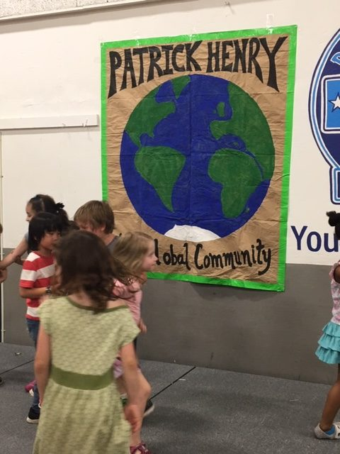 PAtrick Henry Global Community Sign