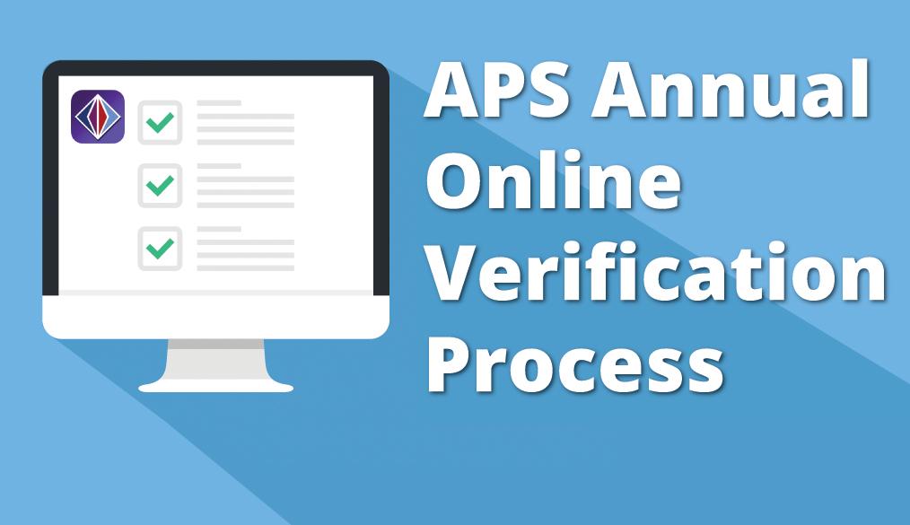 Annual Online Verification Process